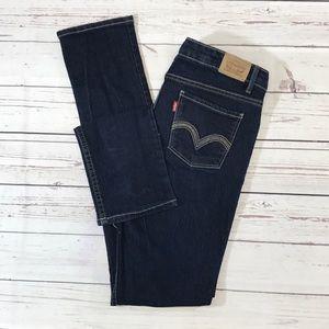 Girls Levi's 711 skinny size 16 Regular dark wash